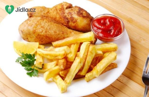Pečený kuřecí stehýnka s hranolkami recept