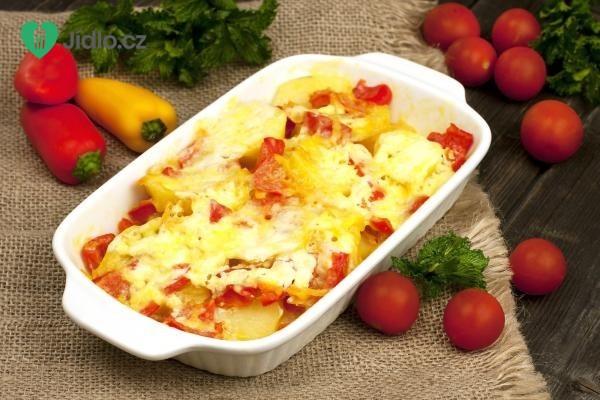 Rajčata a papriky zapečené se sýrem recept
