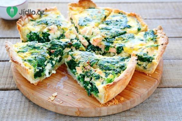 Slaný koláč se špenátem a sýrem recept