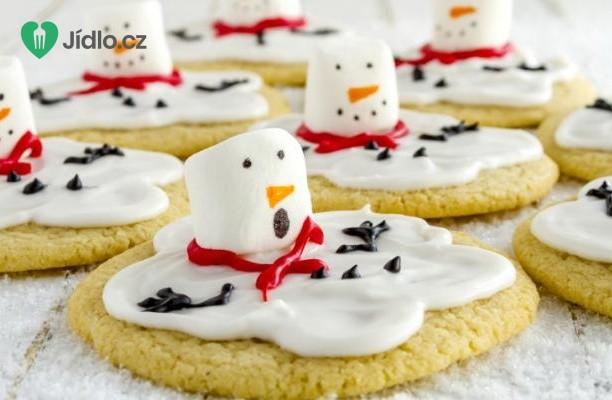 Sušenky s tajícím sněhulákem recept