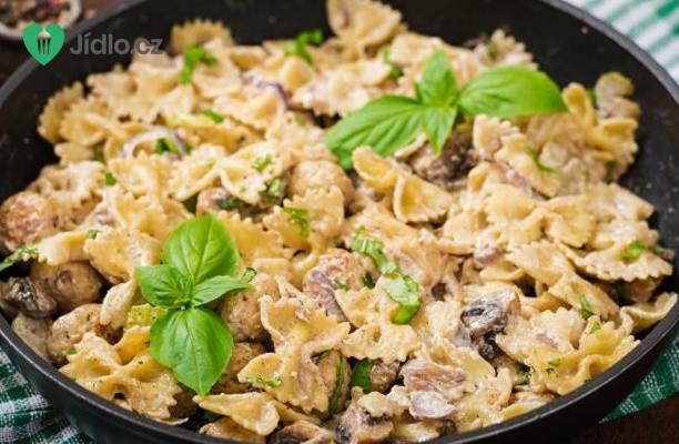 Těstoviny s houbovou omáčkou recept
