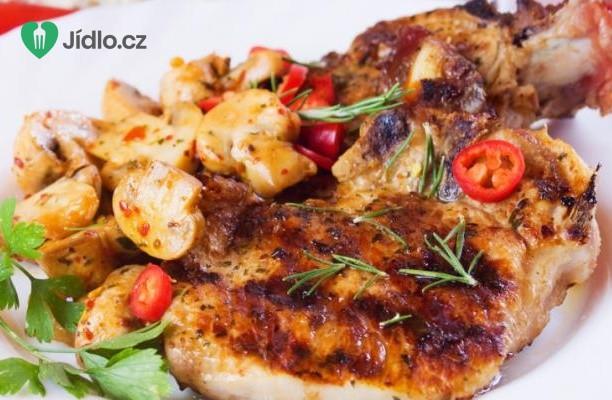 Vepřové maso na houbách recept