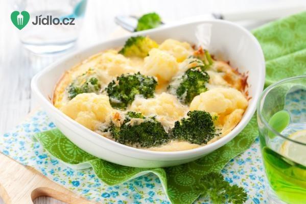 Zapečená brokolice s květákem recept