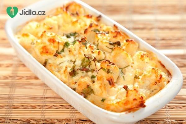 Zapečený květák s bramborem recept