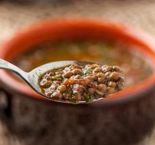 Čočková polévka s anglickou slaninou recept