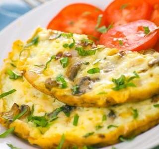 Houbová omeleta recept