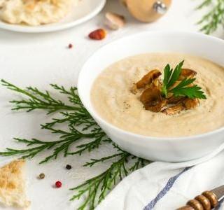 Houbová polévka z lišek obecných