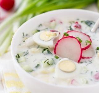 Jarní polévka s ředkvičkami