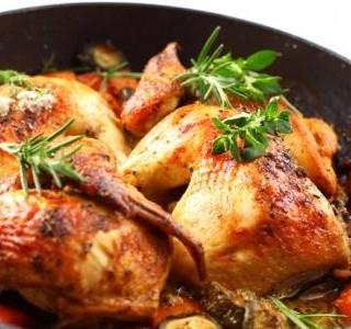 Kuře s  jarní zeleninou