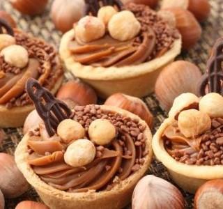 Linecké košíčky s ořechy