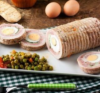 Masová hovězí roláda s vejci