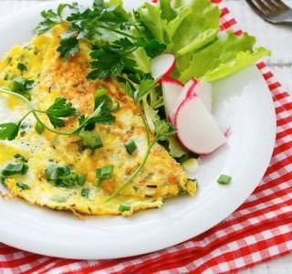 Recept Omeleta s letní zeleninou