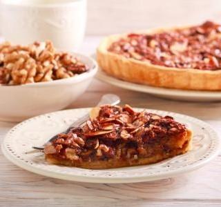 Ořechovo karamelový koláč