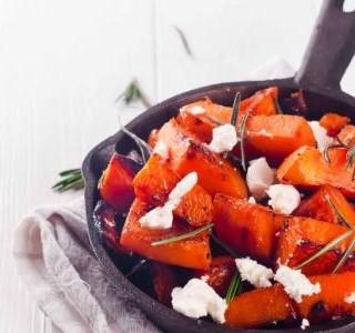 Pečená dýně s chilli a feta recept