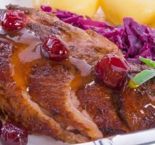 Pečená kachna se zelím recept