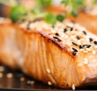 Pečený s losos se zázvorem