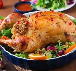 Pečené kuře s nádivkou z těstovin recept