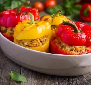 Pečené plněné papriky recept