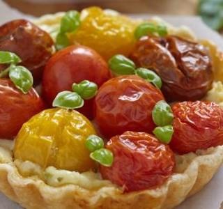 Pikantní rajčatový koláč