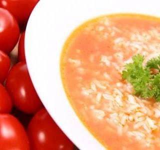 Rajská polévka s rýží