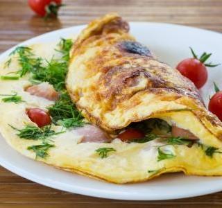 Rychlá zeleninová omeleta