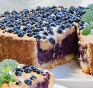 Rychlý borůvkový koláč recept