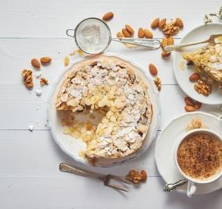 Rychlý koláč s ořechy