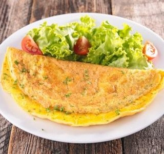 Vaječná omeleta se slaninou