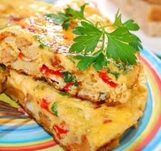 Vegetariánská frittata recept