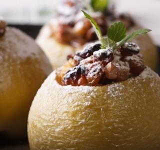 Zapečená jablka s meruňkami